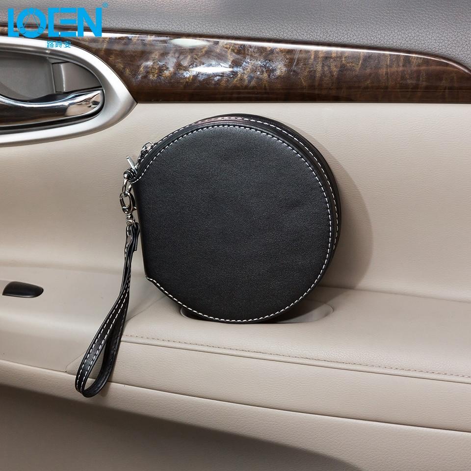 Alta calidad 1 UNID PU cuero impermeable 20 Disco con cremallera CD - Accesorios de interior de coche - foto 2