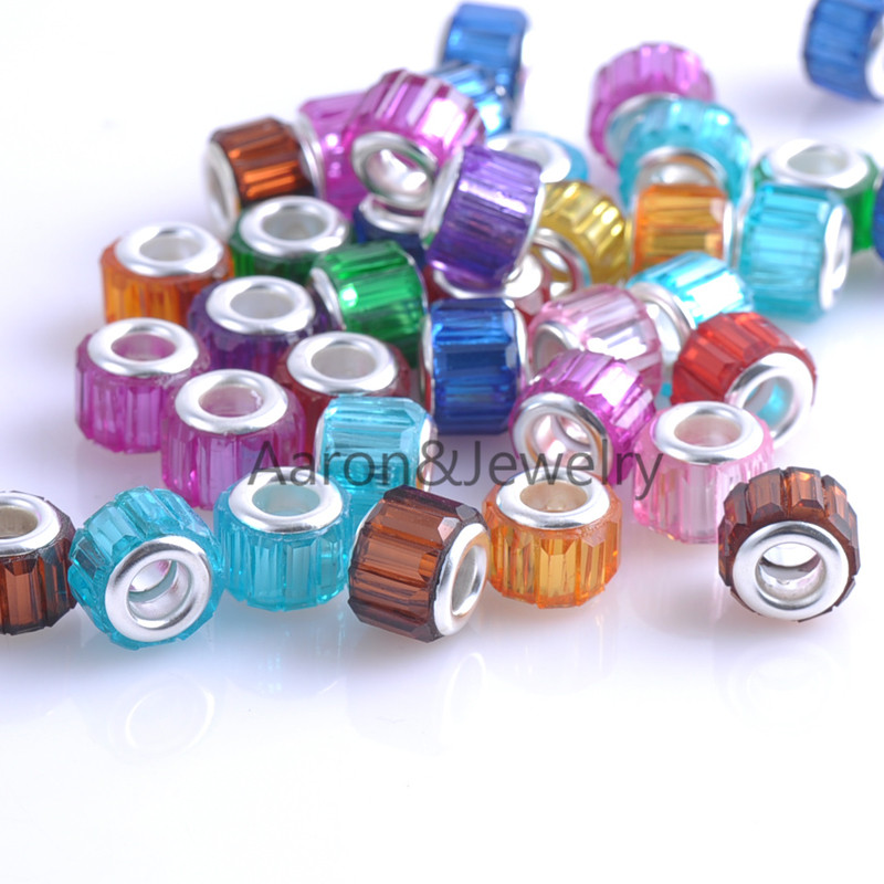 11.5mm 30Pcs Mixed Color Beads Charms Fit Pandora Jewelry Bracelet For Jewelry Handmade  ...