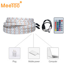 5050 RGB USB LED Lampu Strip 5 V 1 M 2 M 3 M 4 M 5 M Kabel USB dekorasi Lampu LED Tali Pita Tape untuk PC TV LCD Pencahayaan Latar Belakang(China)