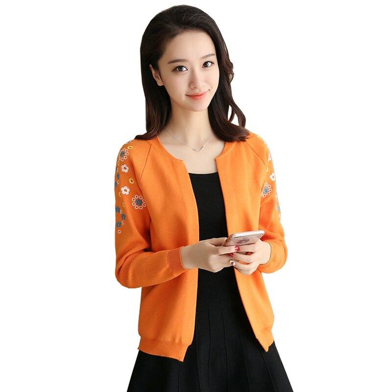 Women Cardigans 2017 New Cashmere Long Sleeve O Neck Sweater Coat Casual Embroidered Cardigan Jacket Shawl Coat Crochet Poncho