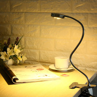 LED Clamp Lamp Reading Light Flexible LED Book Table Desk Lamp Energy Efficient Clip On Night