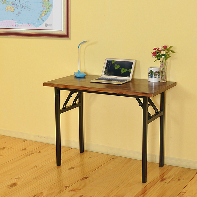 Table Cheap Simple Desktop Computer Desk Solid Wood Minimalist Home Laptop  Disassembly Folding Table