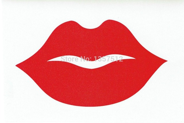 Big thick red lips car sticker for truck window bumper auto suv door kayak vinyl decal