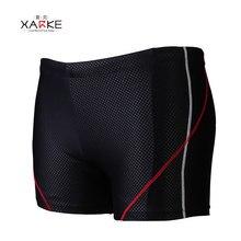 7e3d61b4082 XARKE Professional Men Swimwear Black Blue Boxer Swimming Trunk 2018 Swim  Shorts for Men Boys Swimsuit