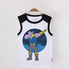 Hot Sale Boys Tanks Funny Swag Thanos 100% Cotton Summer Vest Girls Tops Baby Clothes Child Undershirt Kids Sleeveless T Shirt