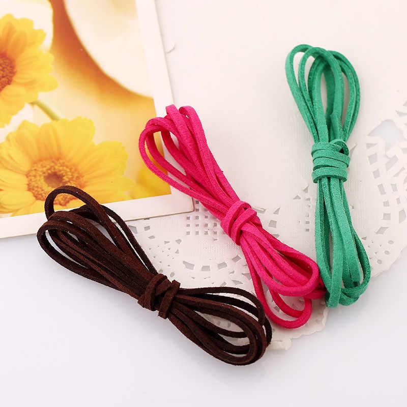 Barato 1 m/unids salvaje doble terciopelo hecho a mano DIY accesorios de joyería pulsera de armadura collar Cordón de piel sintética regalo al por mayor