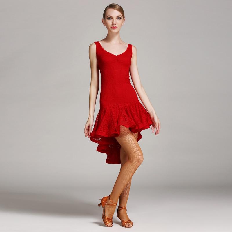 New Woman Fashion Latin Dance Dress Lady Latin Dancing Lace Costume Ballroom Tango Rumba Chacha Dance Competition Wear B-6044