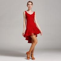 New Woman Fashion Latin Dance Dress Lady Latin Dancing Lace Costume Ballroom Tango Rumba Chacha Dance Competition Wear B 6044