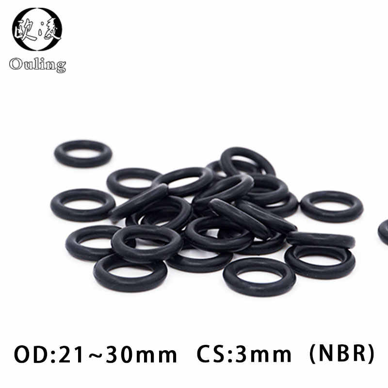 20PC/lot Rubber Ring NBR Sealing O Ring 3mm Thickness OD21/22/23/24/25/26/27/28/29/30*3mm O-Ring Seal Nitrile Gaskets Oil Ring