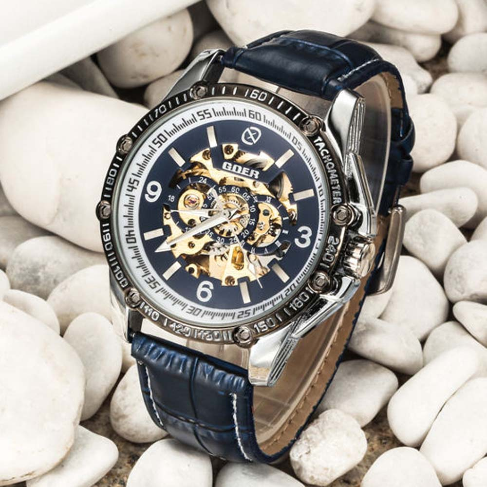 Brand Name GOER Men Fashion Casual Mechanical Watches Leather Band Automatic Self-wind Skeleton Wrist Watches For Men RelojBrand Name GOER Men Fashion Casual Mechanical Watches Leather Band Automatic Self-wind Skeleton Wrist Watches For Men Reloj