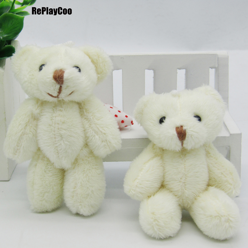 100PCS/LOT Kawaii Small Joint Teddy Bears Stuffed Plush 8CM Toy Teddy Bear Mini Bear Ted Bears Plush Toys Wedding Gifts 0902-in Stuffed & Plush Animals from Toys & Hobbies    1