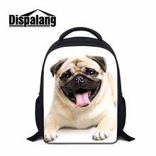 172fa8daf8b9 Dispalang Small Children School Bags Preschool Nursery Backpack Pug Dog  Pattern Kindergarten Book Bag Schoolbags Mochila