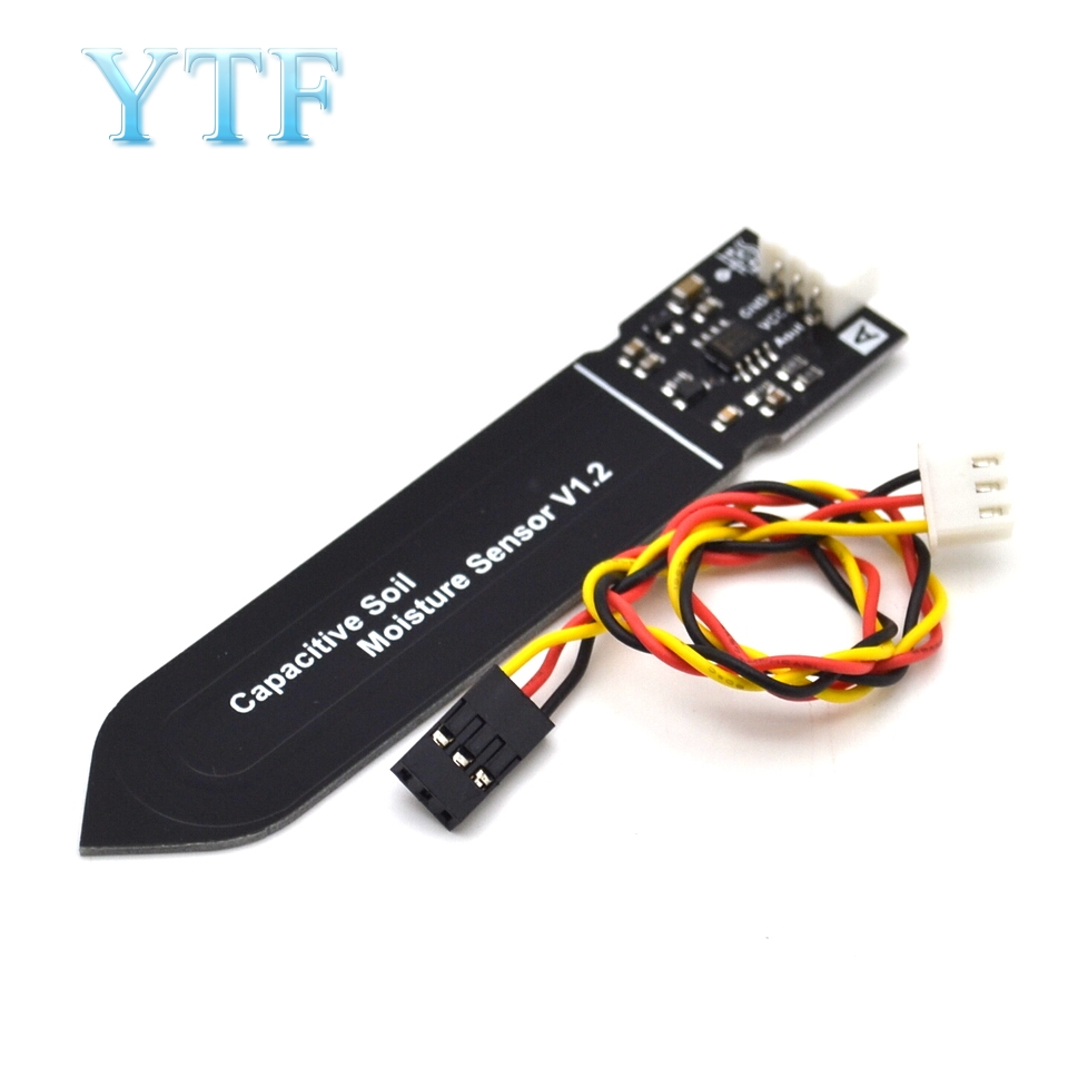 Capacitive Soil Moisture Sensor Not Easy To Corrode Wide Voltage Wire For Arduino Diy