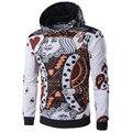 Новое Прибытие Покер Печати Человек Толстовки Пуловеры Мода Slim С Длинным Рукавом Кофты