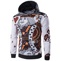 New Arrival Poker Print Man Hoodies Pullovers Fashion Slim Long Sleeve Sweatshirts