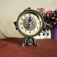 TUDA Free Shipping 7 Inch Luxury Zinc Alloy Table Clock Exquisite European Retro Design Table Clock Home Decoration Table Clock