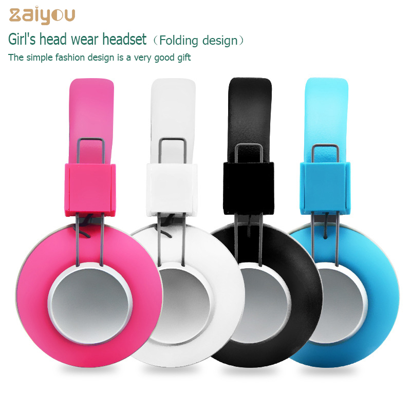 Women Lady beautiful Colourful Headphones With Microphone Wired Headset For Mobile phone tablet PC Computer Girls' Kids' Gift magift bluetooth headphones wireless wired headset with microphone for sports mobile phone laptop free russia local delivery hot