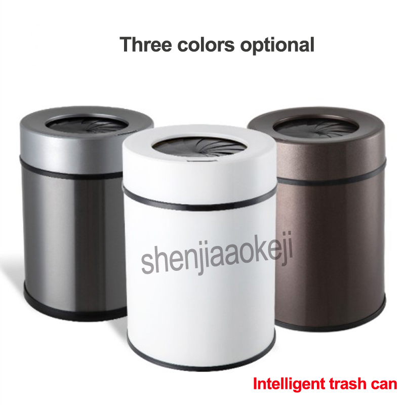 Spiral Automatic Intelligent induction charging trash home kitchen living room bathroom,office Sensor Trash Can 1PC trash