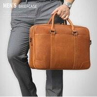 Имидо натуральная кожа мужчины сумка Портфели Деловых Поездок Сумка через плечо сумка для ноутбука