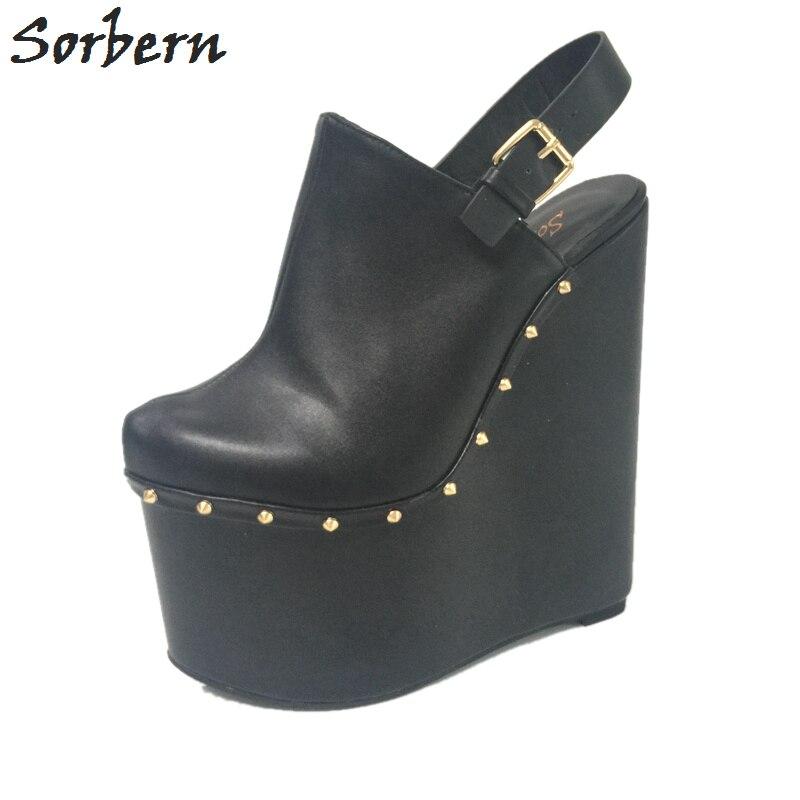 ผู้หญิงสีดำ Extrem รองเท้าส้นสูง 20 ซม. ชี้นิ้วเท้ารองเท้าสตรีฤดูใบไม้ผลิ 2018 ออกแบบส้นรองเท้ารันเวย์-ใน รองเท้าส้นสูงสตรี จาก รองเท้า บน   1