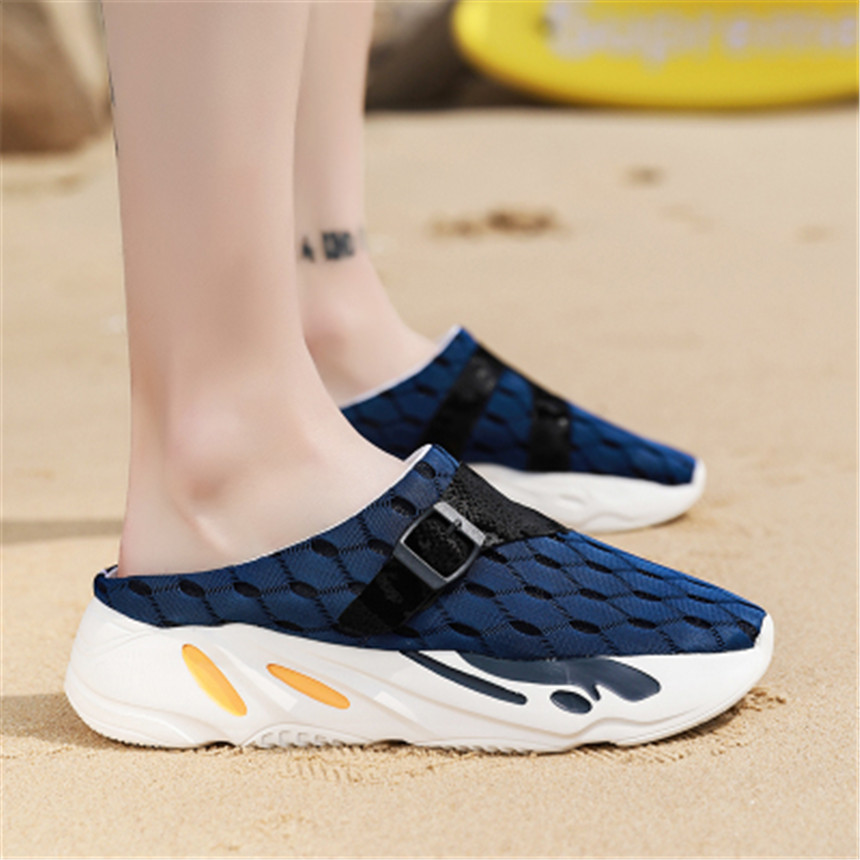 2019 Breathable Summer Men Flip Flops Lightweight Massage Beach Sandals Non slide Male Slippers Zapatos Hombre Casual Shoes in Slippers from Shoes