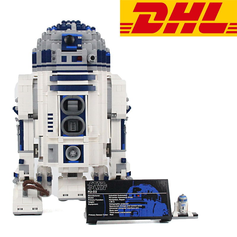 2017 NEW 2127Pcs Star War The R2-D2 Robot Model Building Kit Figure Blocks Bricks Toy For Children Compatible With 10225 rollercoasters the war of the worlds