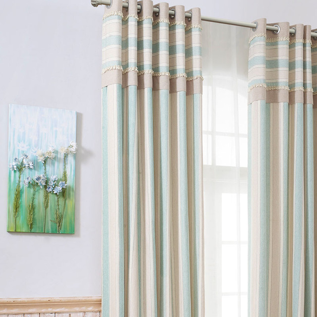 € 135.67 |Cortinas modernas a rayas para sala de estar cortinas gruesas de  lujo para comedor de dormitorio persianas verdes hechas a medida para ...