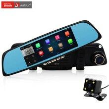 Free Gift 32GB Card!! Junsun A700 Android 6.86 inch Car GPS Navigation DVR Rear view Mirror Camera automobile sat nav navigator