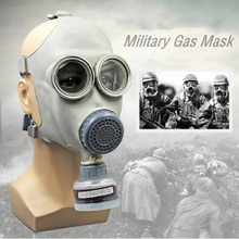 צבאי גז מסכת 64 מלא פני Respirator ציור ריסוס חומרי הדברה טבעי גומי מסכת כימי מניעת 0.5M צינור מסנני