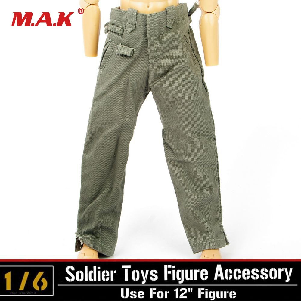 """DML Toy Pants 1:6 Dragon WWII Soldier pants Clothes Trousers Fit 12/"""" Figure"""