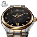 Ochstin Cool Mens Watches Skeleton Noctilucent Stainless Steel Watch Mens Date Calendar Band German Watches Montre Homme