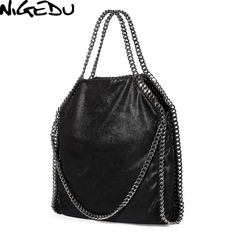 2373815a7768c NIGEDU Frauen Tasche PU Leder Mode Kette frauen Messenger Schulter Taschen  Bolsa Feminina Carteras Mujer handtaschen