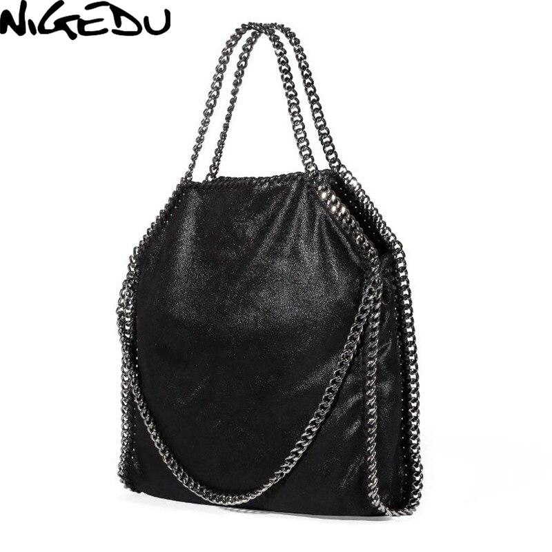 289b6ec0e09a US $20.25 50% OFF|NIGEDU Women Bag PU Leather Fashion Chain Women's  Messenger Shoulder Bags Bolsa Feminina Carteras Mujer handbags Women's  Totes-in ...