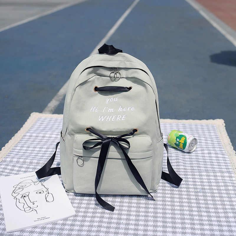 Японии девочек Колледж Джокер Личность Простой рюкзак сумка супер огонь мешок прилив SS-034