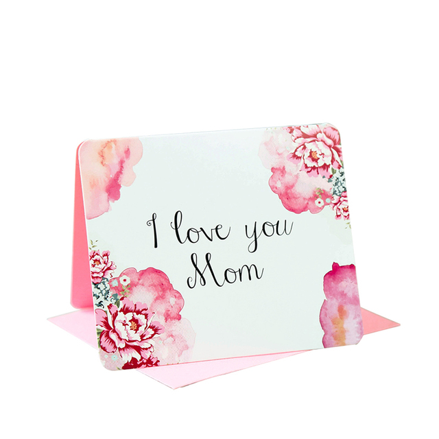 I Love You Mom Greeting Card Mothers Day Birthday For Moms Grandmothers And Aunts