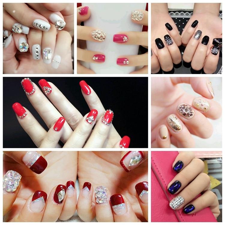 31 цвет, SS3-SS10, разные размеры, Хрустальные стеклянные стразы для дизайна ногтей, для 3D дизайна ногтей, стразы, украшения, драгоценные камни
