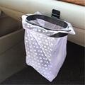 Estilo do carro Saco de Lixo Titular + 40 Pcs Organizador Saco De Lixo de Carro de Lixo Saco de Lixo Rack de Cabide de Carro Veículo quadro Acessórios Do Carro