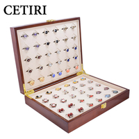 CETIRI 30 Pairs Capacity Cufflink Box For Men High Quality Painted Wooden Cufflinks Case Large Ring Jewelry Display Gift Boxes