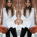 Sexy Women Blouses Lace Embroidery Crochet Long Sleeve Blouse Casual shirt 2016 New Autumn