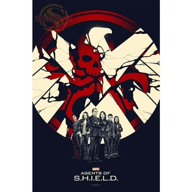 New Marvel Agents Of Shield Symbol Poster Custom Canvas Poster Art