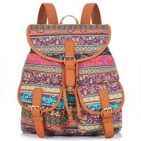 Exclusive New 2015 Handmade Bohemian Mochila Vintage Backpack Drawstring Printing Canvas Bagpack Sac A Dos Femme