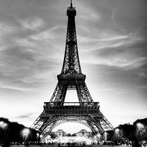 3D Hallway Mural Wallpaper Eiffel Tower Europe Wall Paper Living Room Bedroom Decor Black White