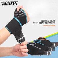 AOLIKES 1 PCS Bandes De Poignet de Sport Support de Poignet Bracelet Wraps Main Entorse Récupération Bracelet pour Vélo Tennis Gym Accessoires