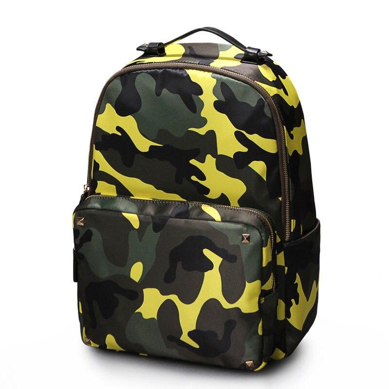 Japan Style Camouflage Printing Backpack Women Fashion Waterproof Small Bag Men Designer Casual Travel Bag Rucksack