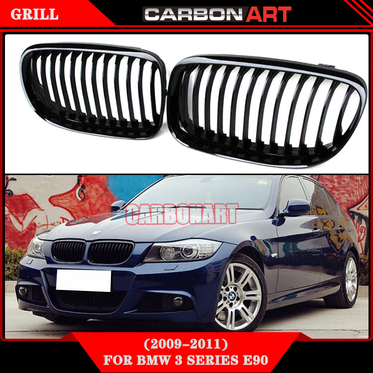 E90 grill 2pcs kidney glossy black oem abs material For bmw 3 series sedan e90 touring e91 335i 330i 325i 320i 318i 2009-2011