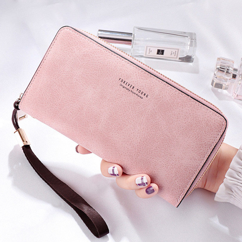 New Long Women Wallet Zipper Holder Card Clutch Wallet Female Card Purse Ladies Handbag Retro Design Large Capacity phone bag ladies handbag 2018 new simple large capacity zipper waller long tern fashion women style