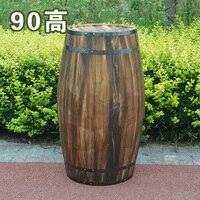 Free shipping Oak 90cm high decorative wood wedding photography props grape cask wine cask barrel custom bar