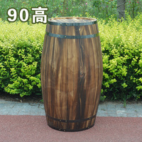 Free shipping Oak 90cm high decorative wood wedding photography props grape cask wine cask barrel custom bar