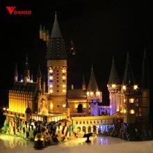 Led ışık seti uyumlu Lego 71043 Harry film 16060 yaratıcı Hogwarts kale yapı taşları tuğla oyuncaklar (sadece led ışık s)