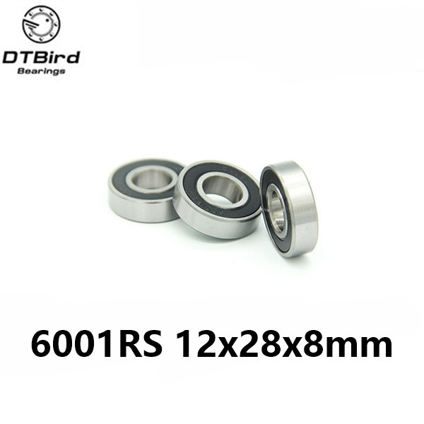 1pcs 6001-2RS 6001RS 6001 RS 12*28*8mm hybrid ceramic ball deep groove ball bearing 12x28x8mm for bicycle part купить в Москве 2019